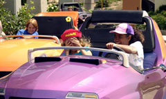 Guests in Autopia Car
