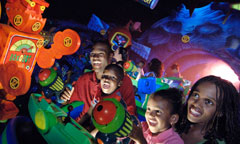 Family at Buzz Lightyear Astro Blasters