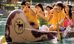 Guests Paddling Davy Crockett's Explorer Canoes