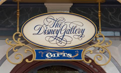 The Disney Gallery Sign
