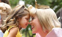 Girl with Disney Princess