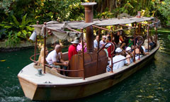 Jungle Cruise Boat with Guests Onboard