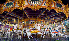 Horses on King Arthur Carrousel