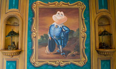 Framed Painting of Mr. Toad 
