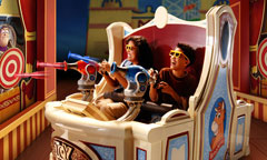 Guests in 3D Glasses Playing Midway-Style Games at Toy Story Mania!