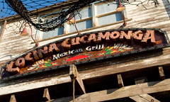 Sign for Cocina Cucamonga Mexican Grill, hosted by Mission Foods
