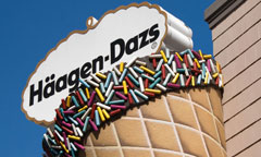 Haagen-Dazs Sign in the Shape of an Ice Cream Cone