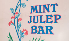 Sign for Mint Julep Bar with Floral Detail