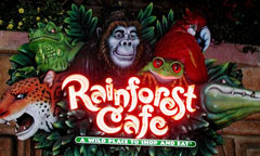 Sign for Rainforest Cafe