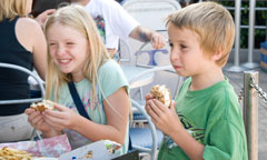 Young Guests Eating at Tomorrowland Terrace