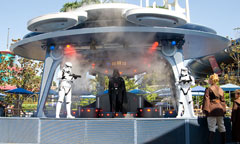 Darth Vader and Storm Troopers Onstage