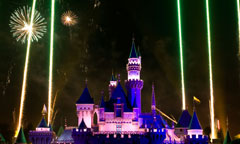 Fireworks Over Sleeping Beauty Castle