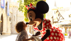 Little Girl with Minnie Mouse