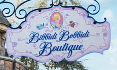 Bibbidi Bobbidi Boutique Sign