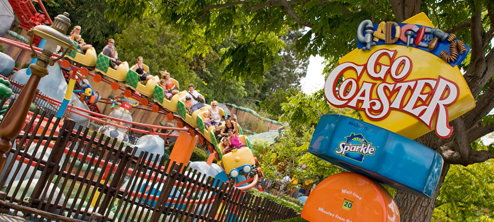 Guests Riding on Gadget's Go Coaster 