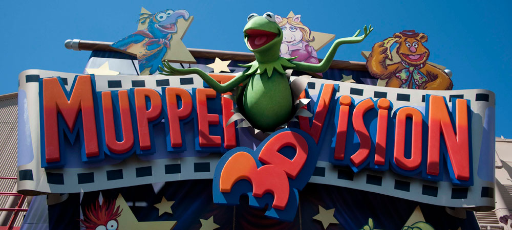Muppet*Vision 3D Sign