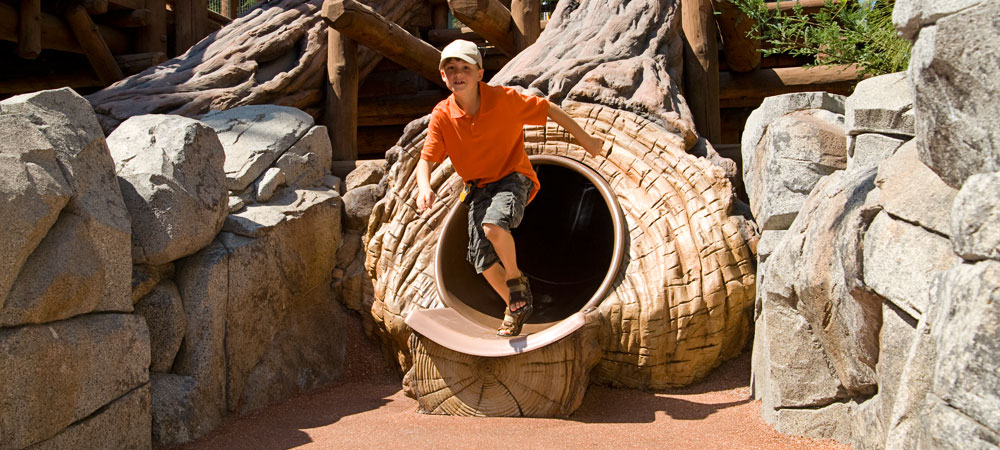 Boy on the Redwood Creek Challenge Trail