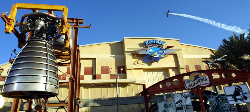 Sign for Soarin' Over California