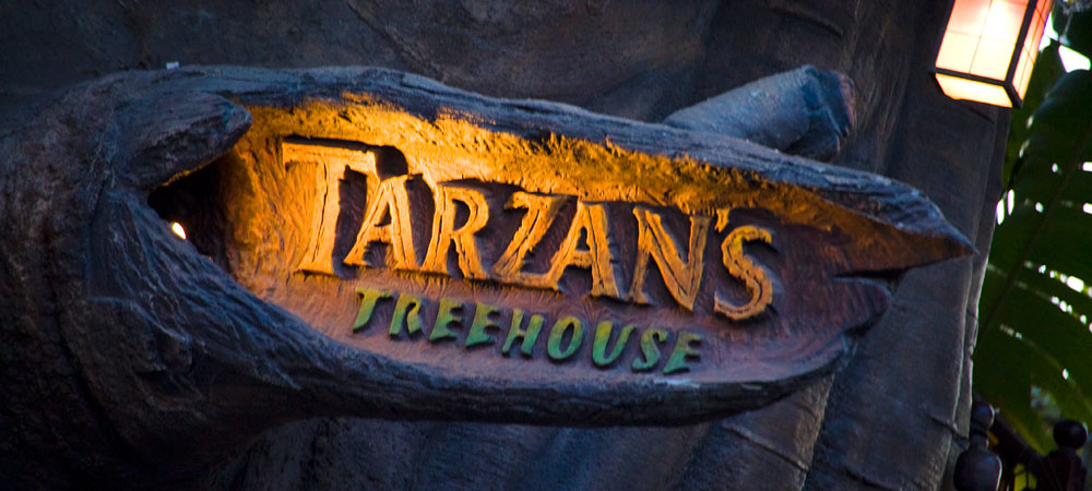 Tarzan's Treehouse Sign