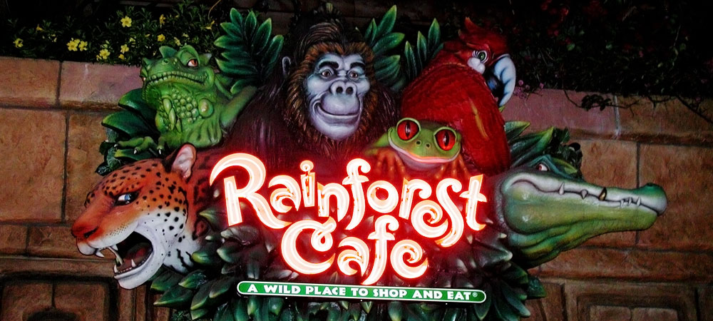 Rainforest Café Sign