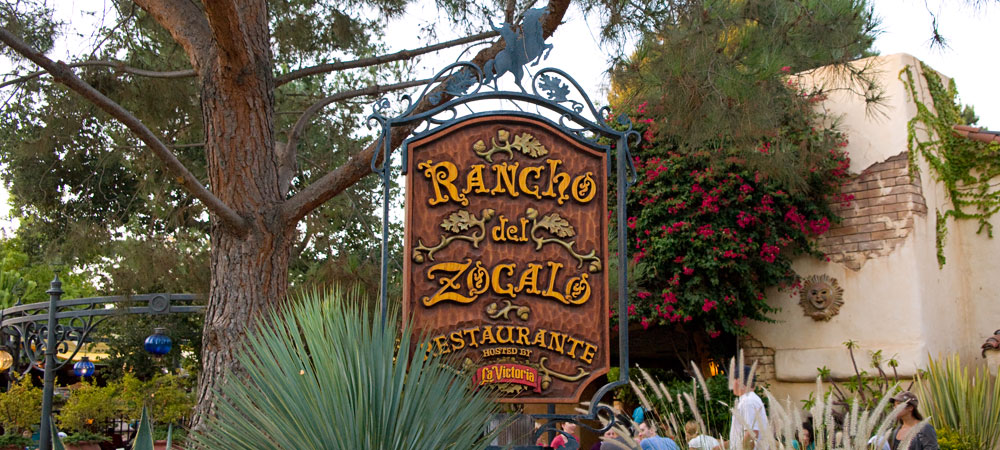 Sign for Rancho del Zocalo Restaurante, Hosted by La Victoria 