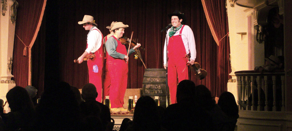 Onstage at the Golden Horseshoe