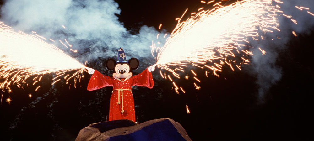 Mickey Mouse Dressed As Sorcerer