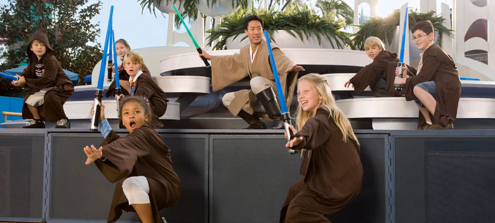 Young Jedi at Jedi Training Academy