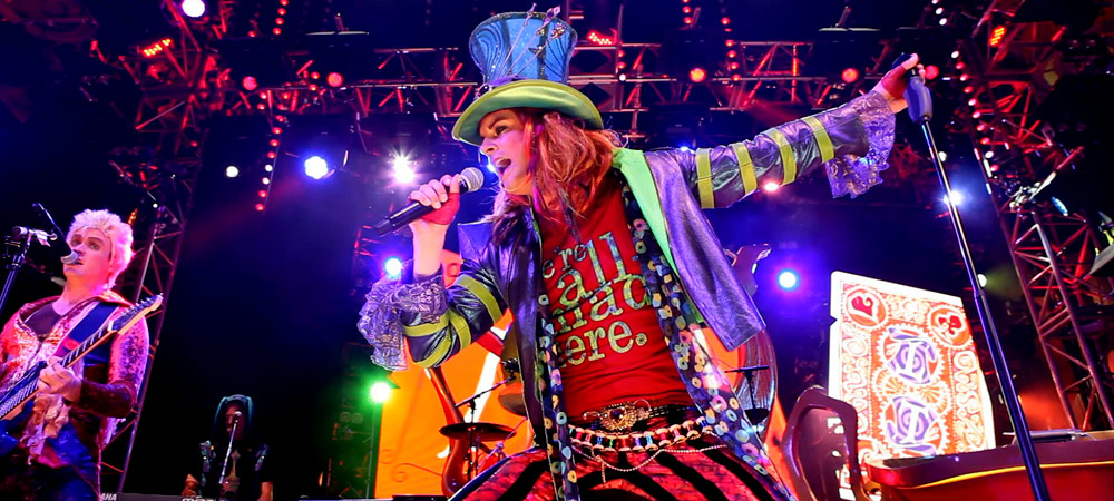Mad T Party in Hollywood Studio's Backlot at Disney California Adventure Park.