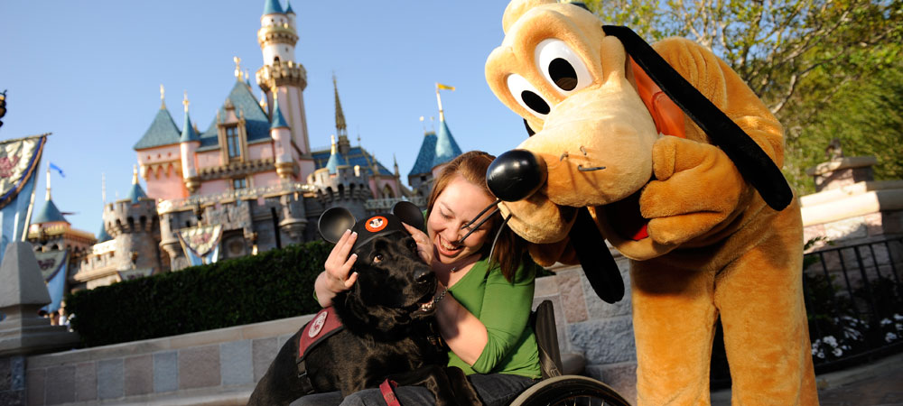 Pluto with Girl in Wheelchair