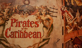 Sign to entrance of Suite: Pirates of the Caribbean.