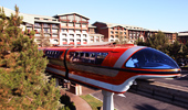 The Disneyland Resort Monorail offers convenient transportation.
