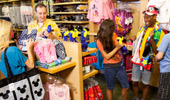 Guests purchase souvenirs, sundries, snacks and gifts.