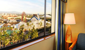 From the Premium View rooms, see the sights from the nearby Theme Park.