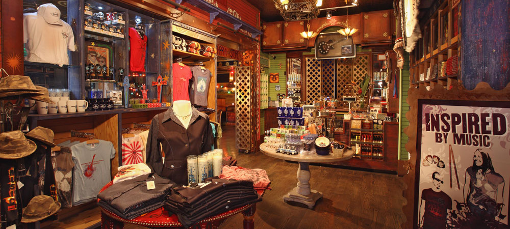 Inside the House of Blues Store